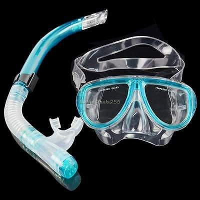 Blue MASK and SNORKEL SET for SCUBA DIVING or SNORKELLING
