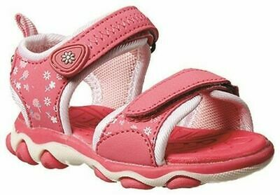 Girls Toddler Shoes Grosby Alex Pink/White Surf Sandals Size 3-7 Hook and Loop