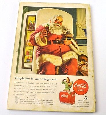 Coca-Cola Coke Anzeige USA komplettes Heft National Geographic Magazine 12/1947
