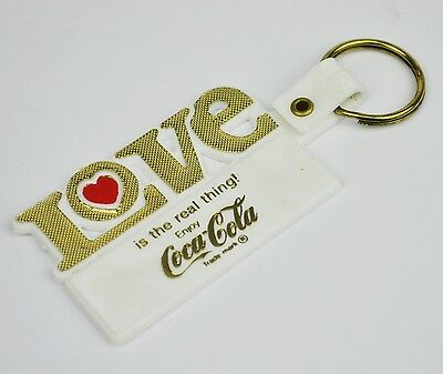 Coca-Cola USA Schlüsselanhänger weiß Key Chain LOVE is the real thing Herz