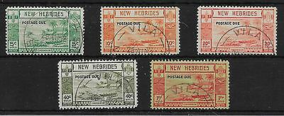 New Hebrides Sgd6/10 1938 Postage Due Overprint Set Used