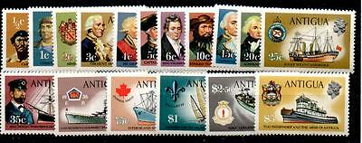 Antigua Sg269/85 1970-5 Definitive Set Mnh