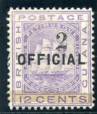 British Guiana 1881 QV 2 on 12c pale violet MLH. SG 155. Sc 99.