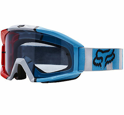 FOX MAIN MOTOCROSS MX GOGGLES FALCON GREY / RED / BLUE tear-off enduro mtb