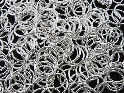 EXTRA LARGE SILVER PLATED JUMP RINGS 12mm 14mm 16mm 18mm 20mm 22mm UK SELLER ML