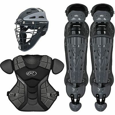 Rawlings Sporting Adult Catcher Set Velo Series Protective Gear, Black/Graphite