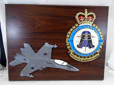 Wall Plaque Canadian RCAF CF 18 Fighter Jet 409 Squadron Escadrille