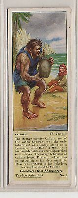 #2 Caliban - The Tempest - Characters From Shakespeare Card