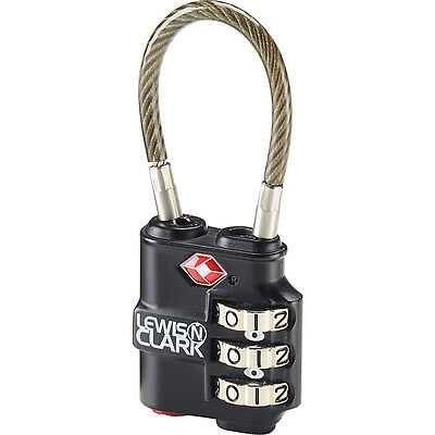 Lewis N. Clark Travel Sentry Indicator Heavy-Duty Cable Luggage Accessorie NEW