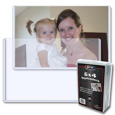 100 BCW Brand 6 x 4 Side Load Postcard Photo Holders Storage Protection