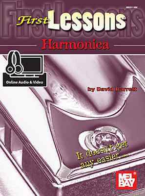 First Lessons Harmonica - Harmonica Method Book/online Media 20118M