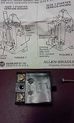 Allen Bradley 595-A02 Overload Relay Auxiliary Contact Series A Nib