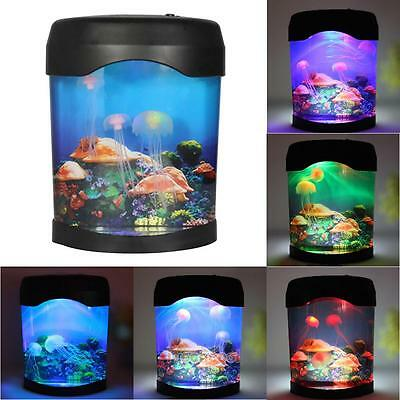 Romantic Jelly Fish Tank Water Lamp Bedroom Mood LED Night Light Color Change