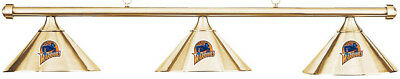 NBA Golden State Warriors Brass Shade & Brass Bar Billiard Pool Table Light