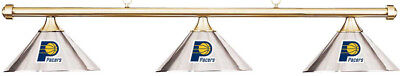 NBA Indiana Pacers Chrome Metal Shade & Brass Bar Billiard Pool Table Light