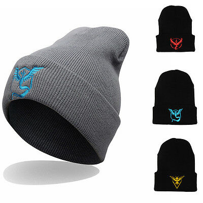 Pokemon Go Beanie Hat Team Mystic InstInct Valor Embroider Caps Cosplay Hat New