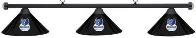 NBA Memphis Grizzlies Black Metal Shade & Black Bar Billiard Pool Table Light