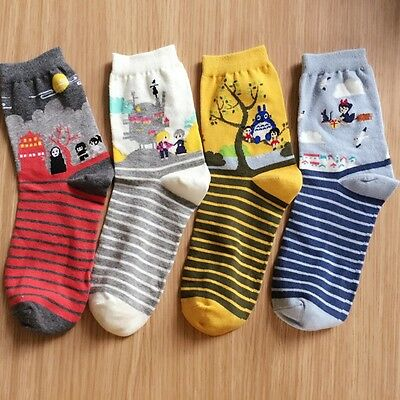 Studio Ghibli Totoro Kiki's Delivery Howl's Moving Castle Spirited Away Socks