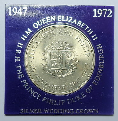 Great Britain Crown 1972. Silver Wedding Ahnniversary 1947 -1972. Free Shipping