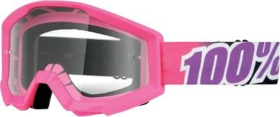 100% Strata Goggles Pink Bubble Gum Clear Lens