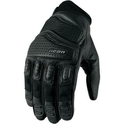 Icon Superduty 2 Leather Motorcycle Gloves - Black / XX-Large 2XL