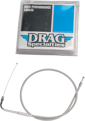 "Drag Specialties 38-3/16"" Braided Idle Cable - 0651-0167"