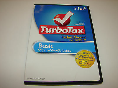 Intuit TurboTax Basic for Windows 2012 Federal + E-File NO STATE BRAND NEW