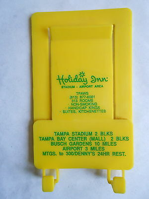 Cool Vintage Holiday Inn Hotels Tampa FL Plastic Advertising Paper Memo Holder