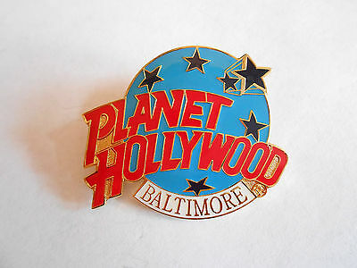 Vintage Planet Hollywood Restaurant Baltimore Enamel Souvenir Pin
