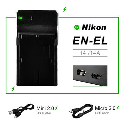 ENEL14 USB Battery Charger Dock For or Nikon D5300 D5200 D5100 D3300 D3200 D3100