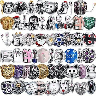 New 925 Silver Charms Beads Fit European jewelery sterling silver bracelet AU3