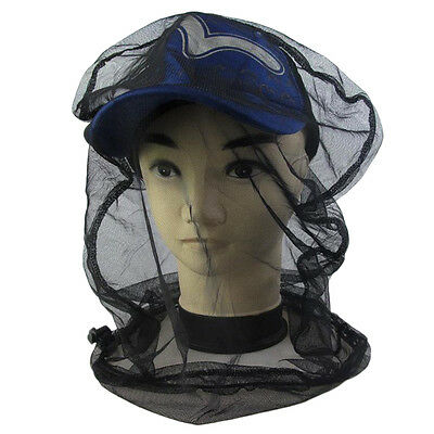 Black Mosquito Bug Insect Bee Mesh Head Net Protect Hat Fishing Camping