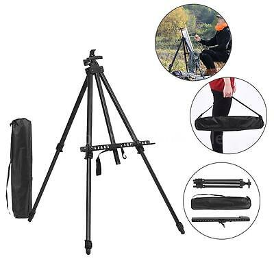 Folding Adjustable Metal Art Artist Easel Tripod Sketch Paint Drawing Stand S2I0
