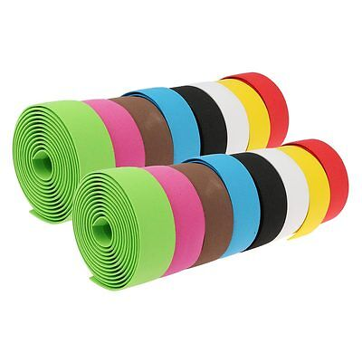 2Pcs Road Bike Bicycle Handle Bar Tape Handlebar Grips Wraps Belt + Bar Plugs