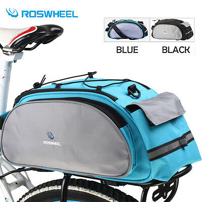 13L Cycling Bicycle Bike Rear Seat Shoulder Bag Rack Trunk Pannier Pack Carrier