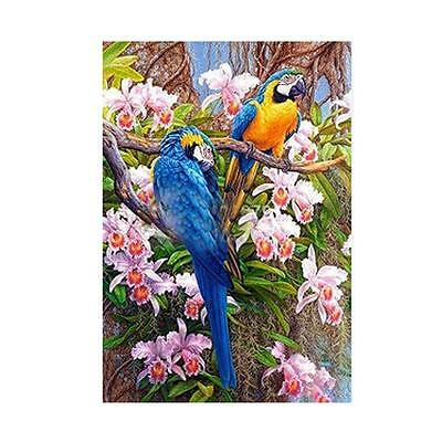 5D Two Parrots Diamond Embroidery Painting DIY Cross Stitch Kit Home Wall Decor