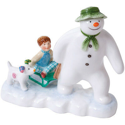 John Beswick The Snowman Snowdog & Billy Earthenware Figurine NEW