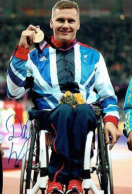 David WEIR Autograph Signed 12x8 Photo AFTAL COA Paralympic Wheelchair Athlete
