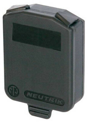 Neutrik SCDX Hinged cover for all D-size chassis connectors 10 pcs.