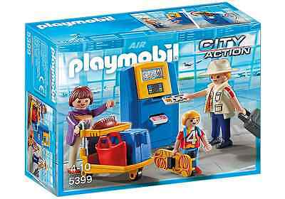 Playmobil City Action 5399 Familie am Check-in Automat im Flughafen
