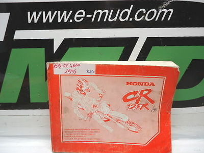 Manuel Entretien Maintenance Manual Honda 125 Cr 1995 69Kz4610 Gb F De Nl Es