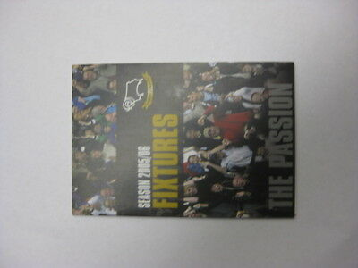 Derby County Fixture Card 2005/06