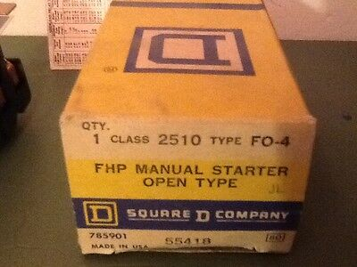 Square D 2510 Fo-4 Fhp Manual Starter Open Type- New