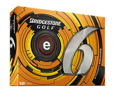 6 Dozen New Bridgestone e6 Golf Balls 6 Dzn 72 Balls White E 6