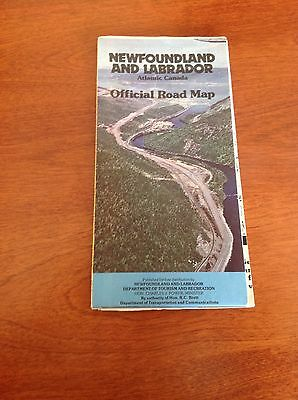 Newfoundland And Labrador Official Road Map