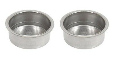 (2) Two Cup Filter Coffee Baskets for Saeco 124650221 Portafilters