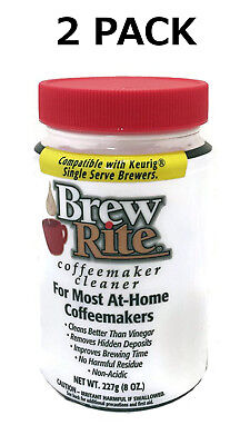 (2) Brew Rite Coffee Maker Cleaner for Espresso Machines and Drip Coffeemakers