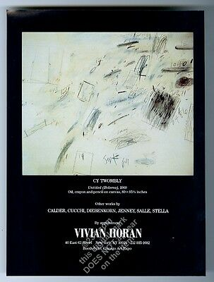 1986 Cy Twombly untitled Bolsena art NYC gallery vintage print ad
