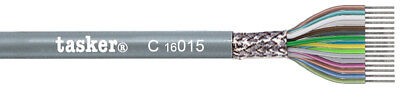 Tasker C16015 Multicore shielded cable 16x0,15 mm² for data transmission 100 m