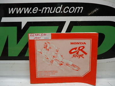 Manuel Entretien Service Manual Honda 500 Cr 1995 66Mac610
